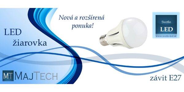 LED žiarovka s bežným závitom E27 a rôznymi výkonmi