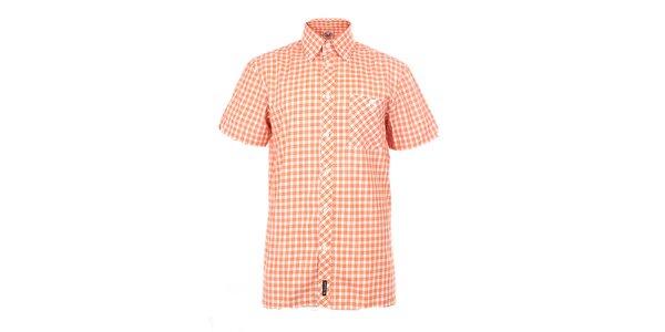 Pánska oranžová károvaná košeľa The Spirit of 69