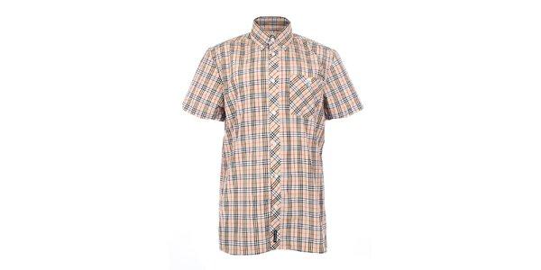 Pánska béžová košeľa s tartanovým vzorom The Spirit of 69