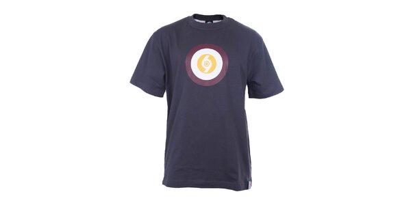 Pánske modré tričko s farebným terčom The Spirit of 69