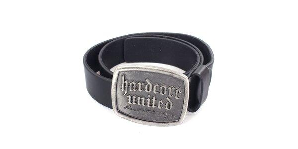 Pánsky čierny kožený opasok Hardcore United