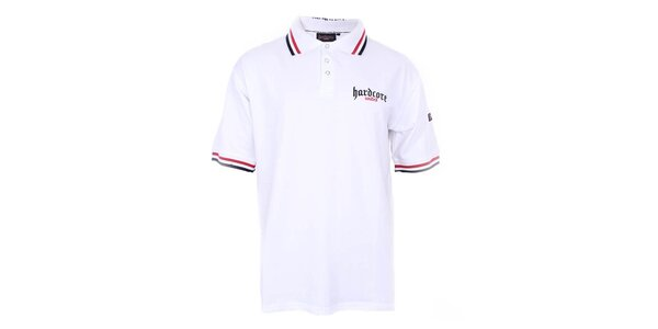 Pánske biele polo tričko Hardcore United