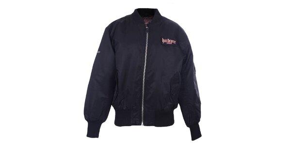 Pánska čierna bunda na zips Hardcore United