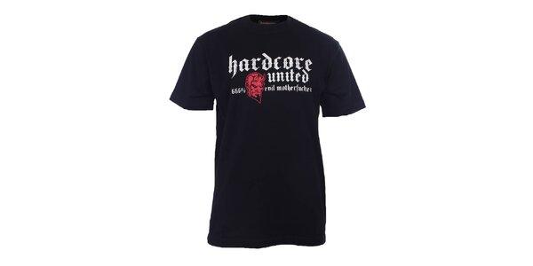 Pánske čierne tričko s diablom Hardcore United