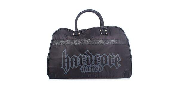Pánska čierna športová taška Hardcore United