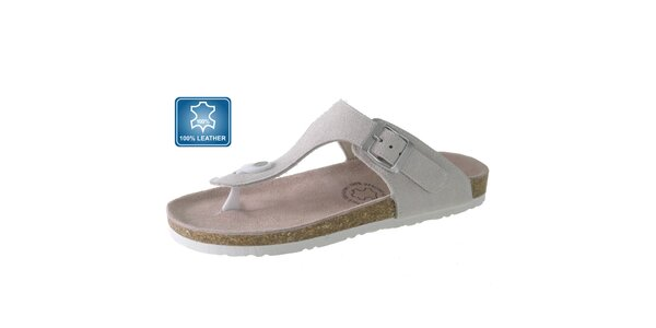 Dámske biele kožené sandále Beppi