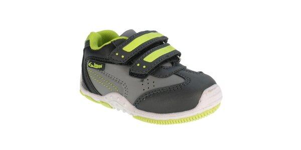 Detské šedé športové topánky so suchým zipsom Beppi