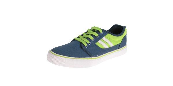 Pánske modro-zelené tenisky Beppi