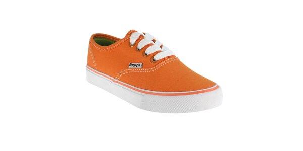 Dievčenské oranžové tenisky Beppi