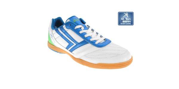 Pánske bielo-modré športové tenisky Beppi
