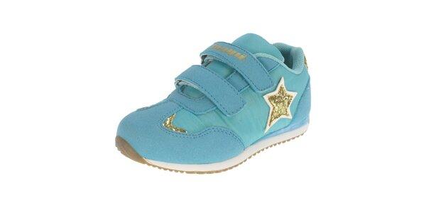 Detské modré topánky s hvezdičkou Beppi