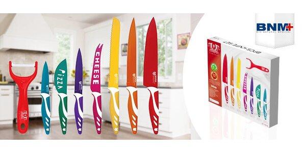 8 dielna sada oceľových nožov