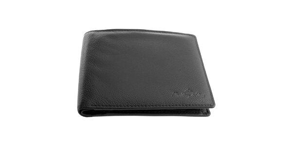 Pánska kožená čierna peňaženka Lindberg & Sons