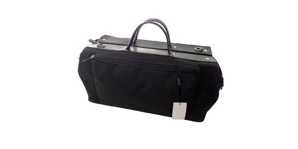 Pánska čierna taška na zips Emporio Armani