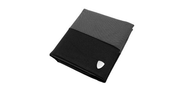 Pánska čierno-šedá látková peňaženka Lamborghini