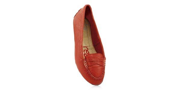 Dámske červené skladacie baleríny RedFoot