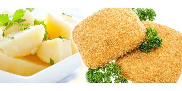 Vyprážaný syr, varené zemiaky