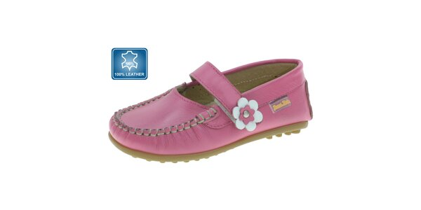 Dievčenské ružové mokasíny Beppi