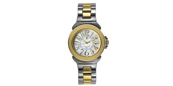Dámske oceľové hodinky s diamantmi a perleťovým ciferníkom Lancaster
