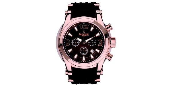 Pánske hodinky s chronografom vo farbe ružového zlata Lancaster