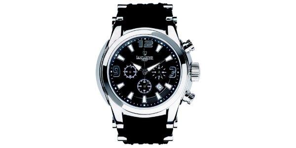 Pánske hodinky s chronografom a čiernym remienkom Lancaster