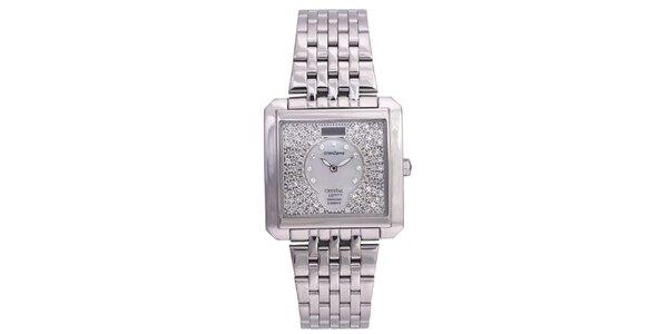 Dámske strieborné hodinky Lancaster so Swarovski elementmi