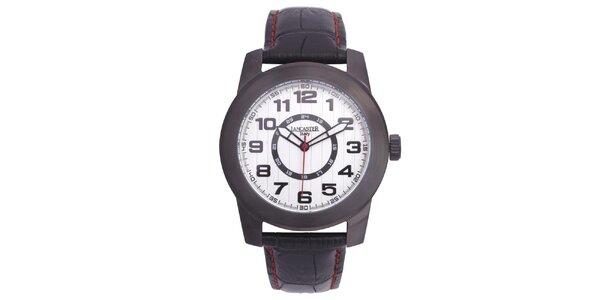 Pánske oceľové hodinky Lancaster s koženým remienkom