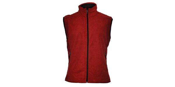 Pánska vínovo červená softshellová vesta Trimm Drill