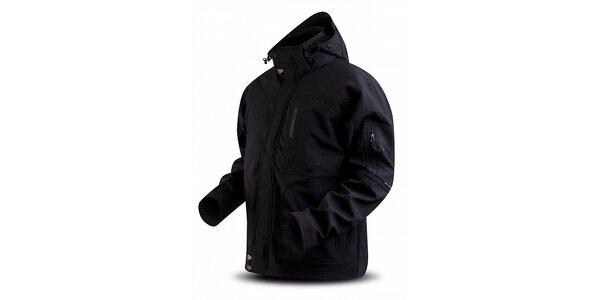 Dámska čierna softshellová bunda Trimm s potlačou