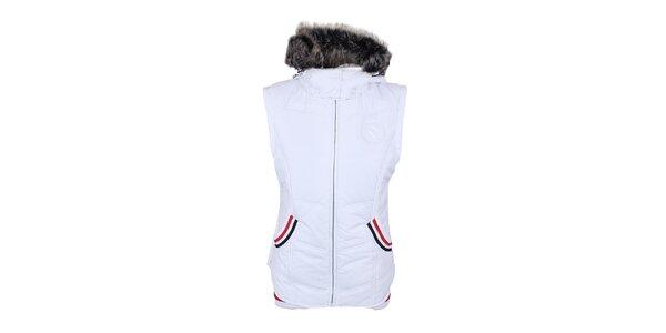 Dámska biela vesta s kapucňou Trimm