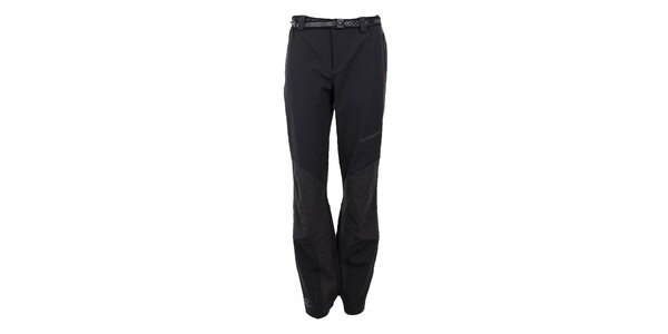 Dámske strečové čierno-šedé nohavice Trimm