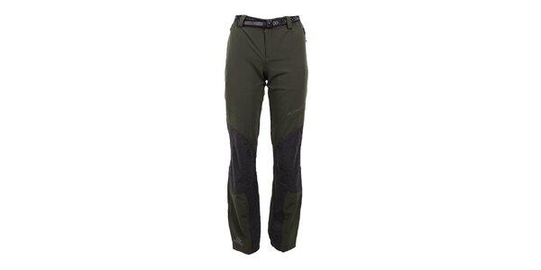Dámske strečové khaki nohavice Trimm