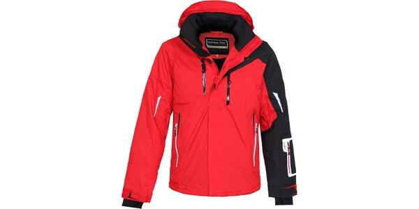 Pánska červeno-čierna lyžiarska bunda Bergson