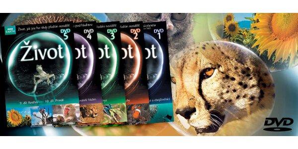 5 DVD Život a DVD Oceány ZDARMA