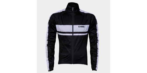 Čierno-biela cyklistická bunda Sweep