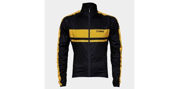 Čierno-žltá cyklistická bunda Sweep