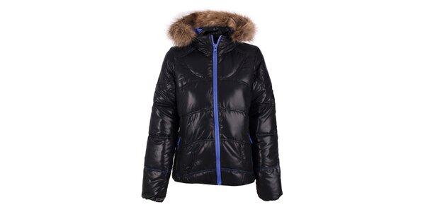 Dámska čierna bunda s modrým zipsom O'Neill