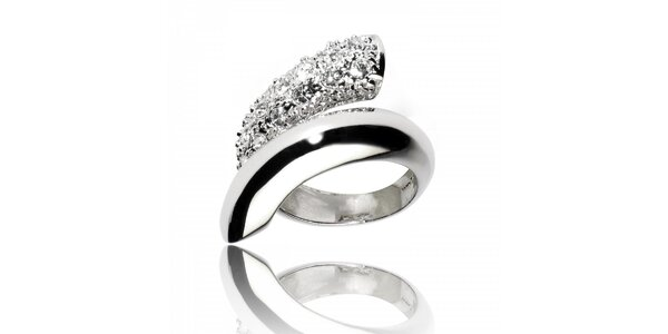 Dámsky strieborný prsteň Bague a Dames špirála