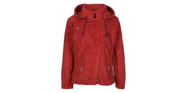 Dámska červená fleecová bunda Utopik