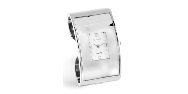 Dámske strieborné náramkové hodinky Bague a Dames