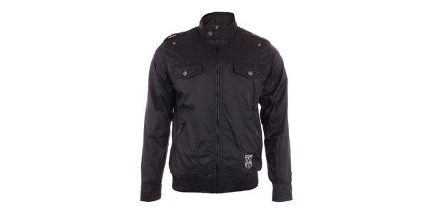 Pánska čierna bunda Exe Jeans so stojáčikom