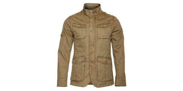 Pánska svetlo hnedá jarná bunda Roberto Verino