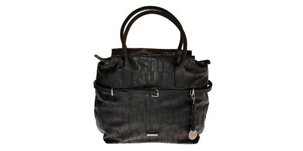 Dámska čierna kabelka Elle s úzkym pásikom