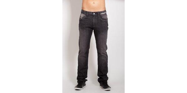 Pánske čierne džínsy Lois
