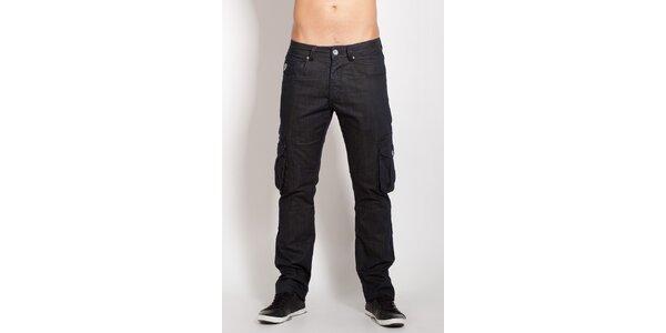 Pánske čierne vreckové džínsy Lois