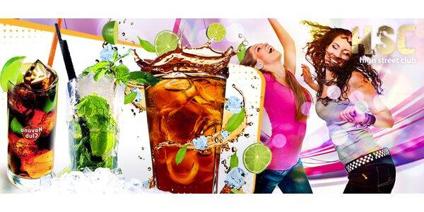 Miešané drinky v centre