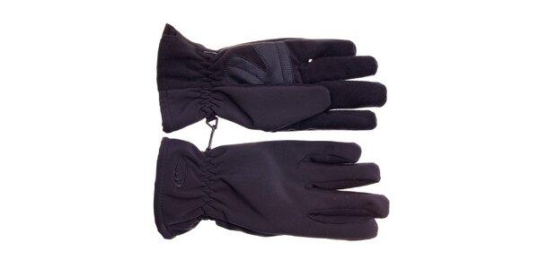 Pánske čierne softshellové rukavice West Scout