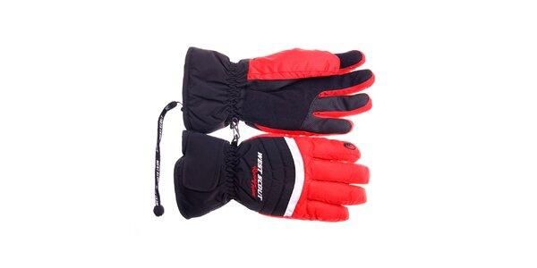 Pánske čierno-červené lyžiarske rukavice West Scout s membránou