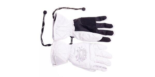 Dámske biele lyžiarske rukavice West Scout s membránou