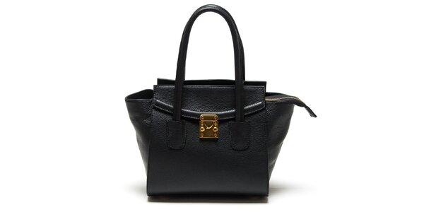 Dámska čierna kabelka so zlatým zámčekom Renata Corsi